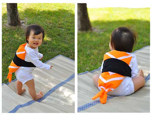 Easy Halloween DIY Sushi Costume
