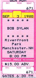 Bob Dylan, September 3, 1988