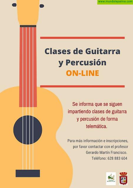 Clases de Guitarra y Percusión ON-LINE