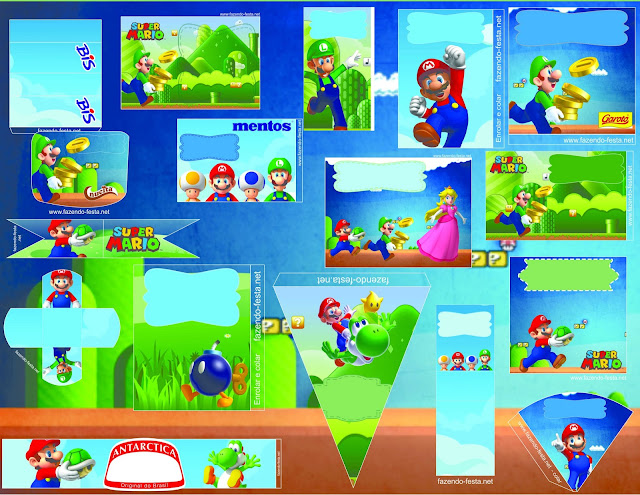 Super Mario Bross: Kit editable para Imprimir Gratis.