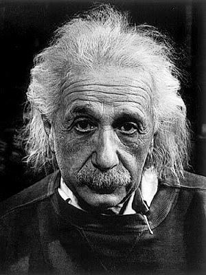 Foto de cerca de Albert Einstein