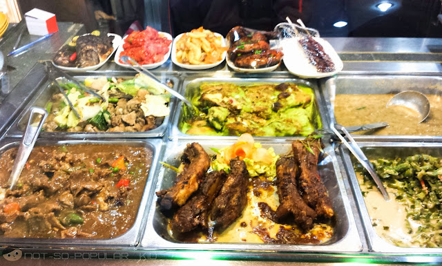 Canteen-style offerings in Nitz Restaurant