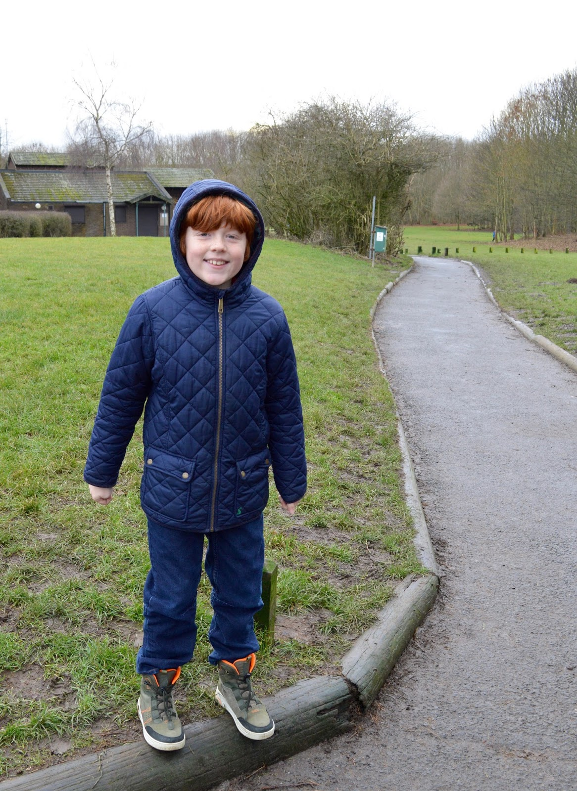 Our Visit to Plessey Woods - A FREE day out in Northumberland. It was very muddy and the perfect chance for Harry to put his GORE-TEX shoes through their paces - Visitor Centre