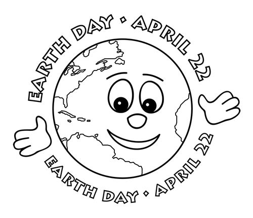 Free Black And White Earth Day Clip Art