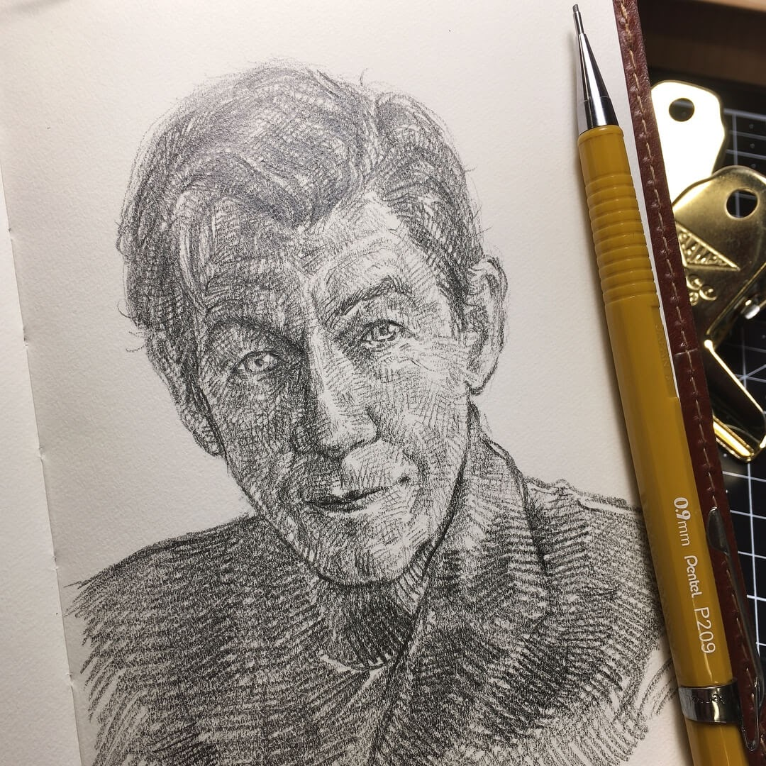 01-Sir-Ian-Mckellen-from-X-Men-Uniquelab-Eclectic-Portraits-Different-Styles-and-Mediums-www-designstack-co
