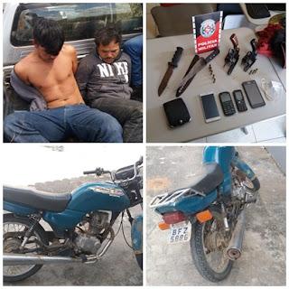 Após assalto com reféns, homens são presos em Barra de Santa Rosa