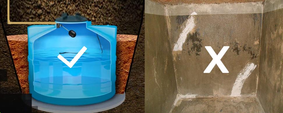 Proproyectos cisterna de cemento concreto o cisterna for Cisternas de cemento