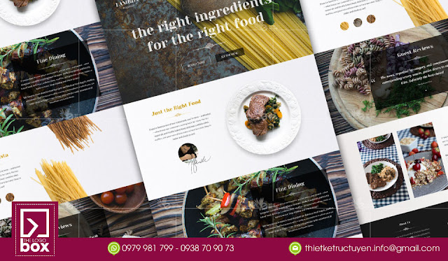 Thiết kế brochure nhà hàng đúng phong cách