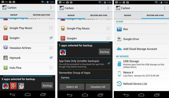 Aplikasi Helium - App Sync and Backup