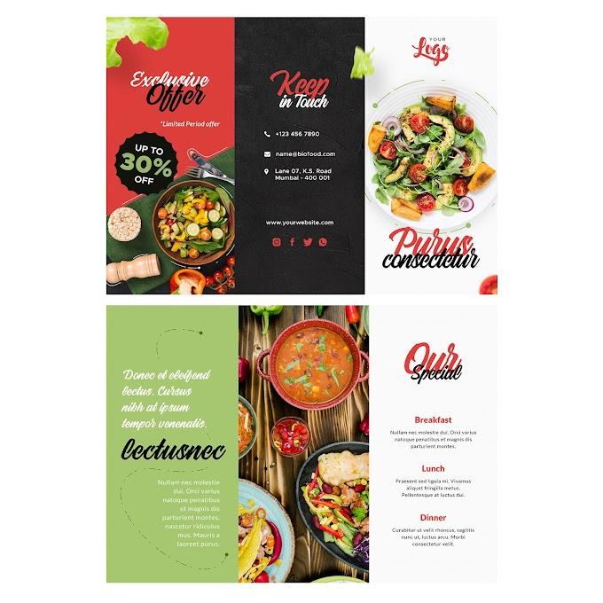 Special Folding Tri-Fold Brochure free psd template