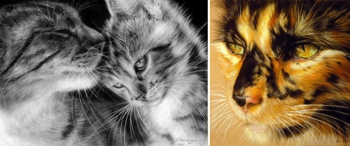 00-Danguole-Serstinskaja-Paintings-of-Cats-that-look-like-Photographs