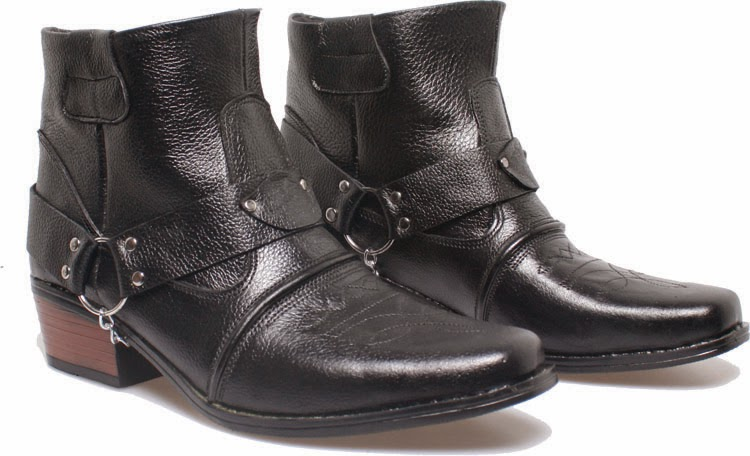 Grosir Sepatu boots murah, sepatu boots pria berantai, sepatu boots pria cibaduyut online, sepatu boots pria pakai hak