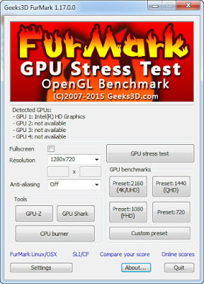 FurMark v1.17.0.0 GPU Stress Test