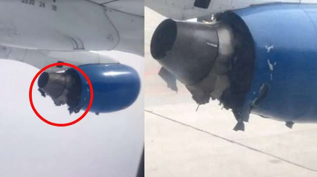 Penumpang Menangis Histeris Melihat Mesin Pesawat dan Meledak di Udara, Lihat Videonya