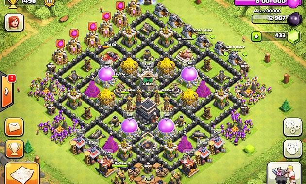 Base Coc Th 9 Pertahanan Terkuat 5