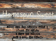 Homespun Sweet ~ My new blog!