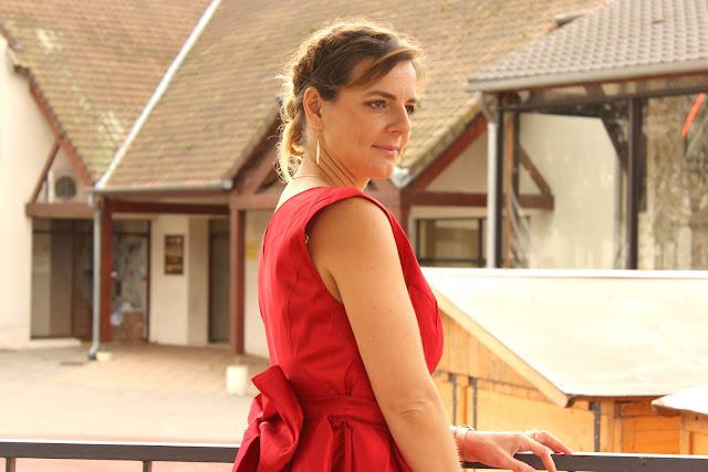 robe rouge, look de noel, camaieu, les petites bulles de ma vie