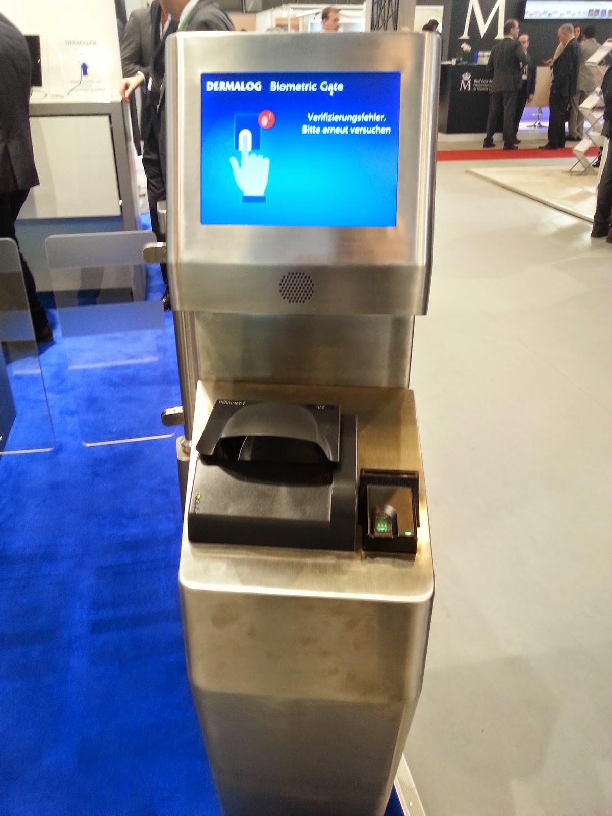 Quioscos biométricos con lector de huella dactilar