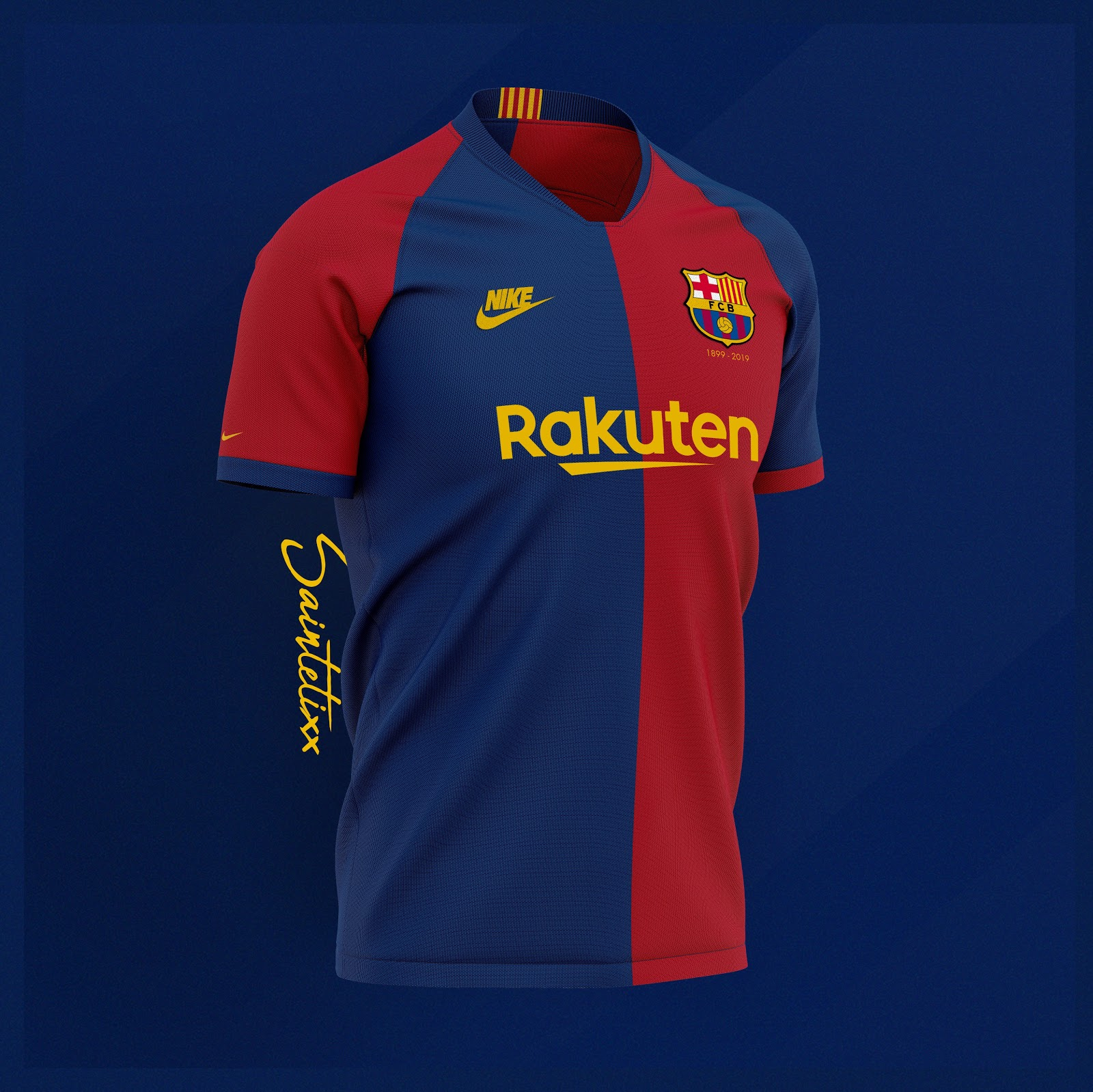 7b148a7505b Nike FC Barcelona 120-Years Anniversary Home, Away & Third Kit ...