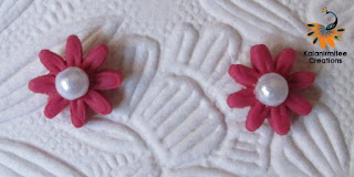 kalanirmitee: Lamasa clay- clay flowers- earrings