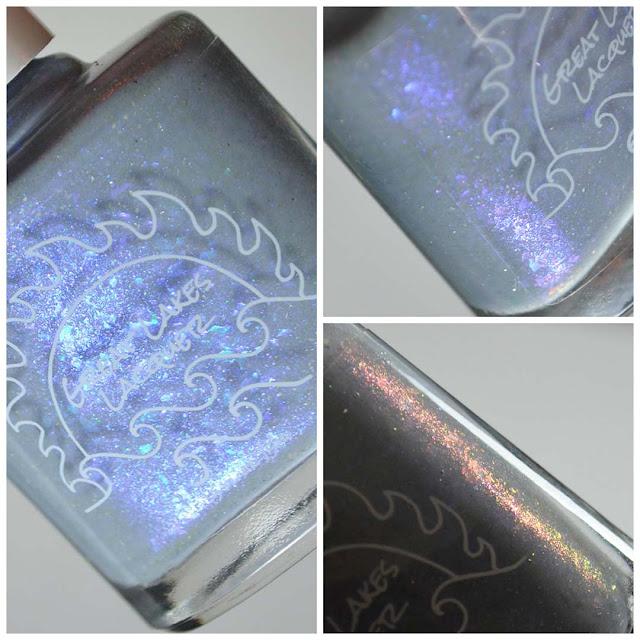 gray nail polish bottle