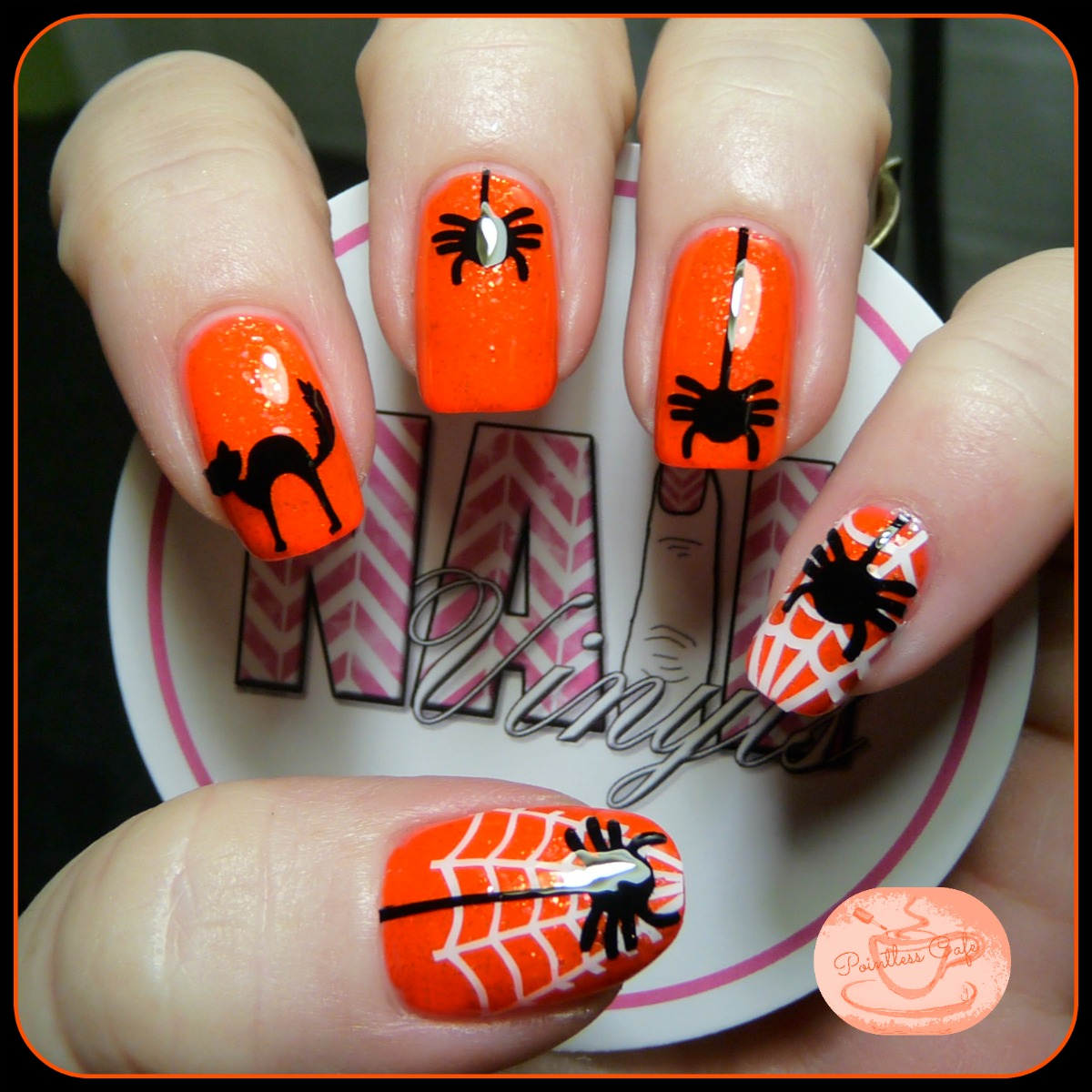 Spooky Nails with Nail Vinyls! | Pointless Cafe