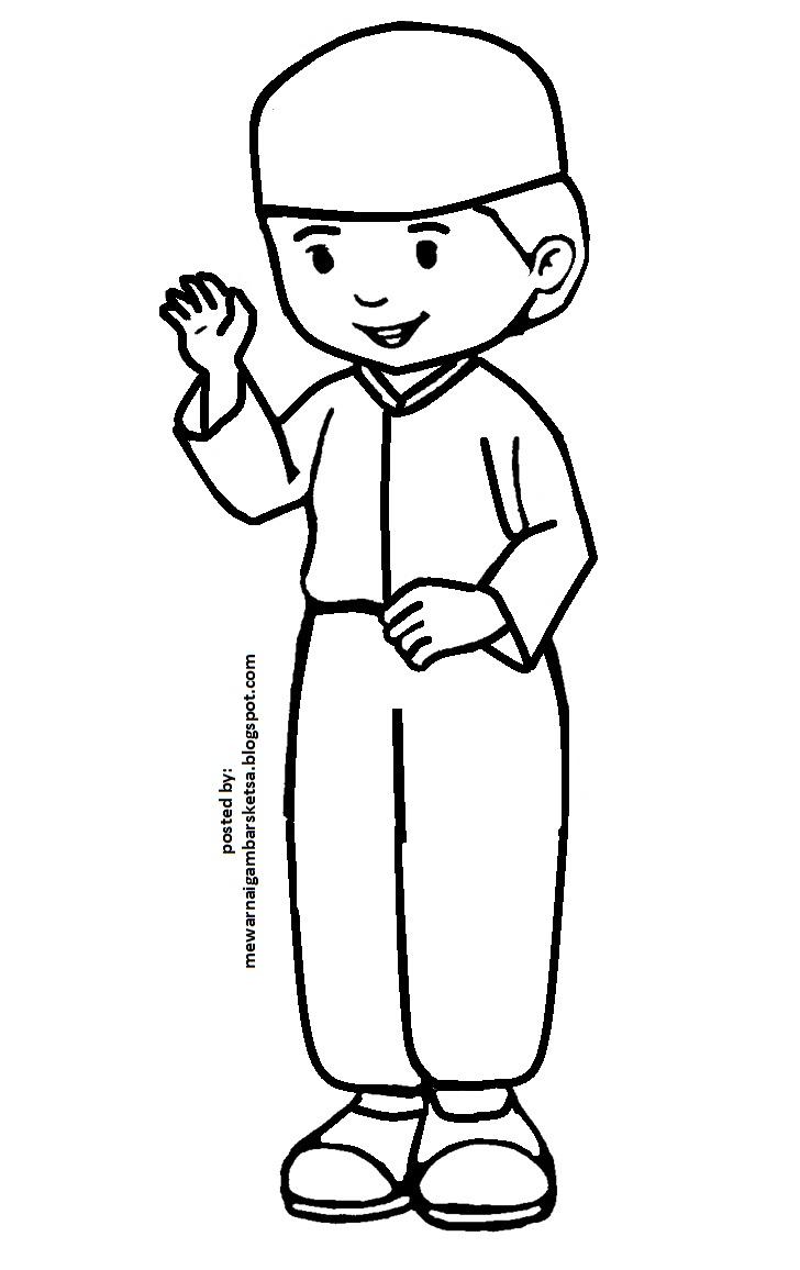 Mewarnai Gambar Baju Seragam Sekolah Tk