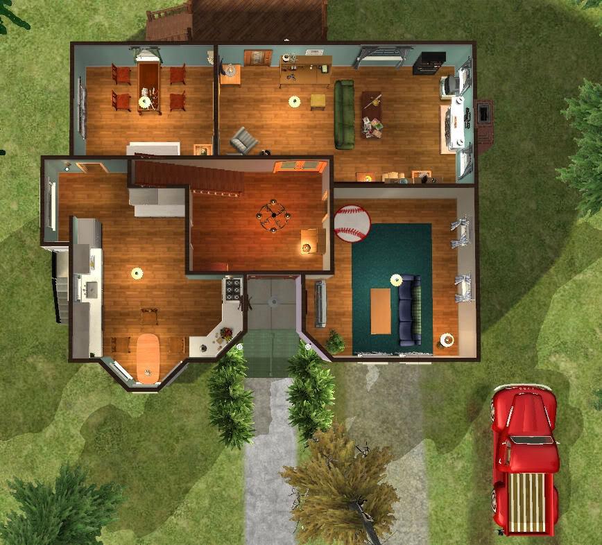 Twoflower 39 s sims 2 lots twilight bella swan 39 s house for Twilight house floor plan