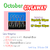 October Giveaway!