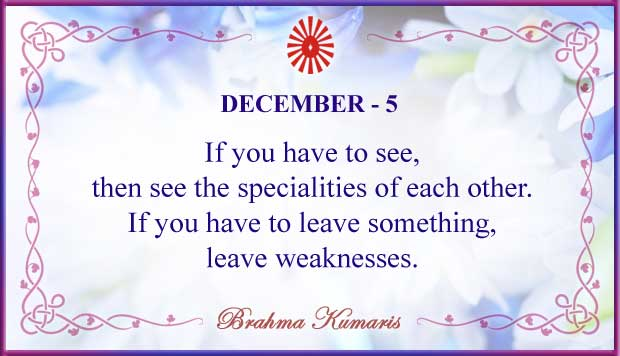 Thought For The Day December 5