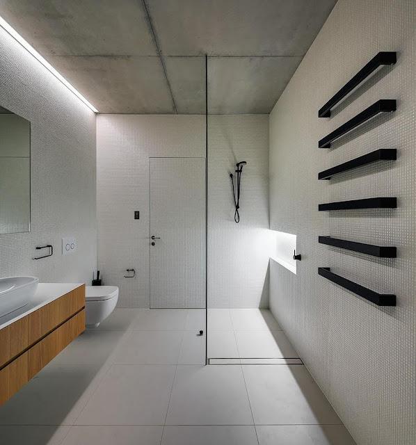 ห้องน้ำคอนกรีตสไตล์โมเดิร์น
