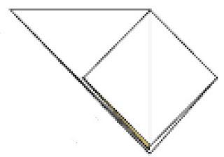Bước 4:  Gấp lớp giấy đằng sau giống như bước 3