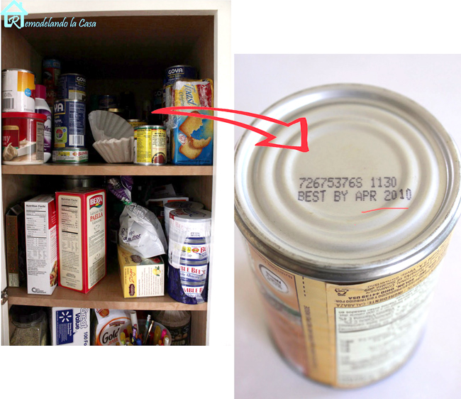 Desorganized pantry