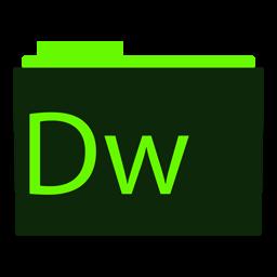 Preview of Cyan Adobe DreamWeaver Folder icon