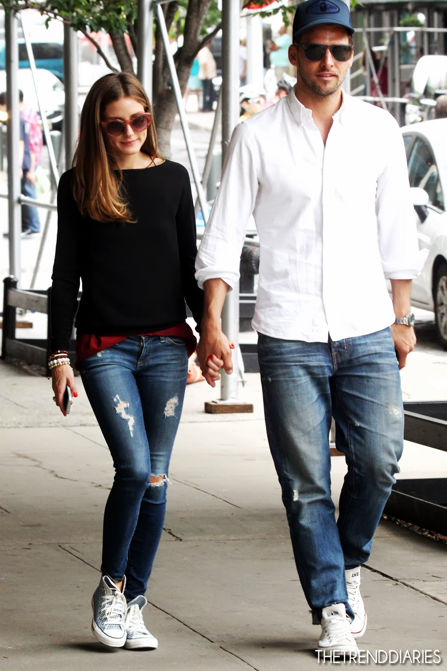 the olivia palermo lookbook olivia palermo with johannes huebl in nyc. Black Bedroom Furniture Sets. Home Design Ideas