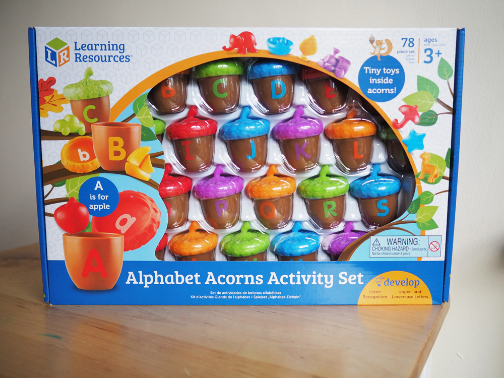 Alphabet Learning Toys : Lily s little learners learning resources alphabet acorn set