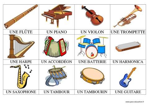 Instrumenty muzyczne - słownictwo 2 - Francuski przy kawie