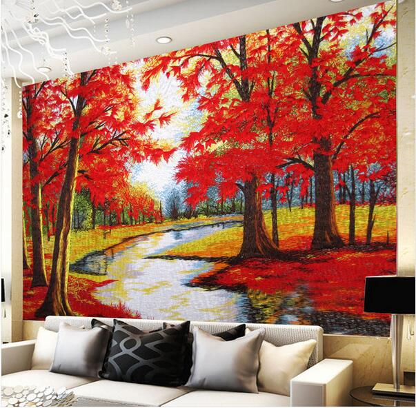 Nature Wall Murals Trees Landscape Autumn