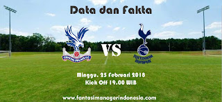 Data dan Fakta Fantasy Premier League GW 28 Crystal Palace vs Tottenham Fantasi Manager Indonesia