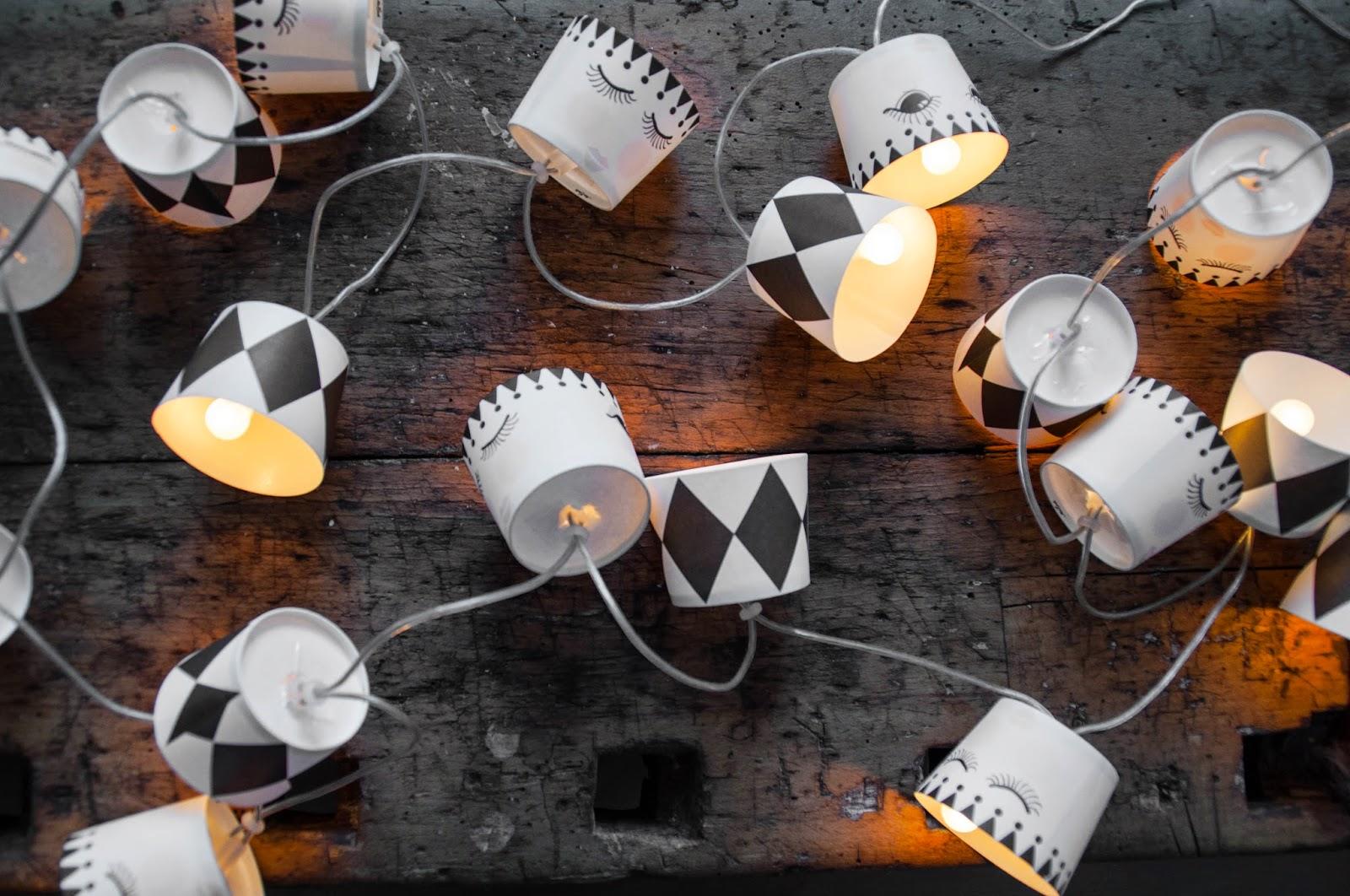 diy lichterkette aus cupcake f rmchen dicke w goldmarie. Black Bedroom Furniture Sets. Home Design Ideas