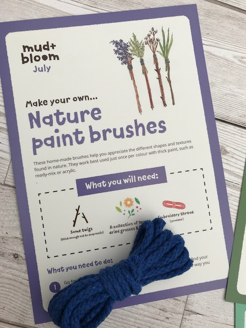 Nature brushes instructions and string