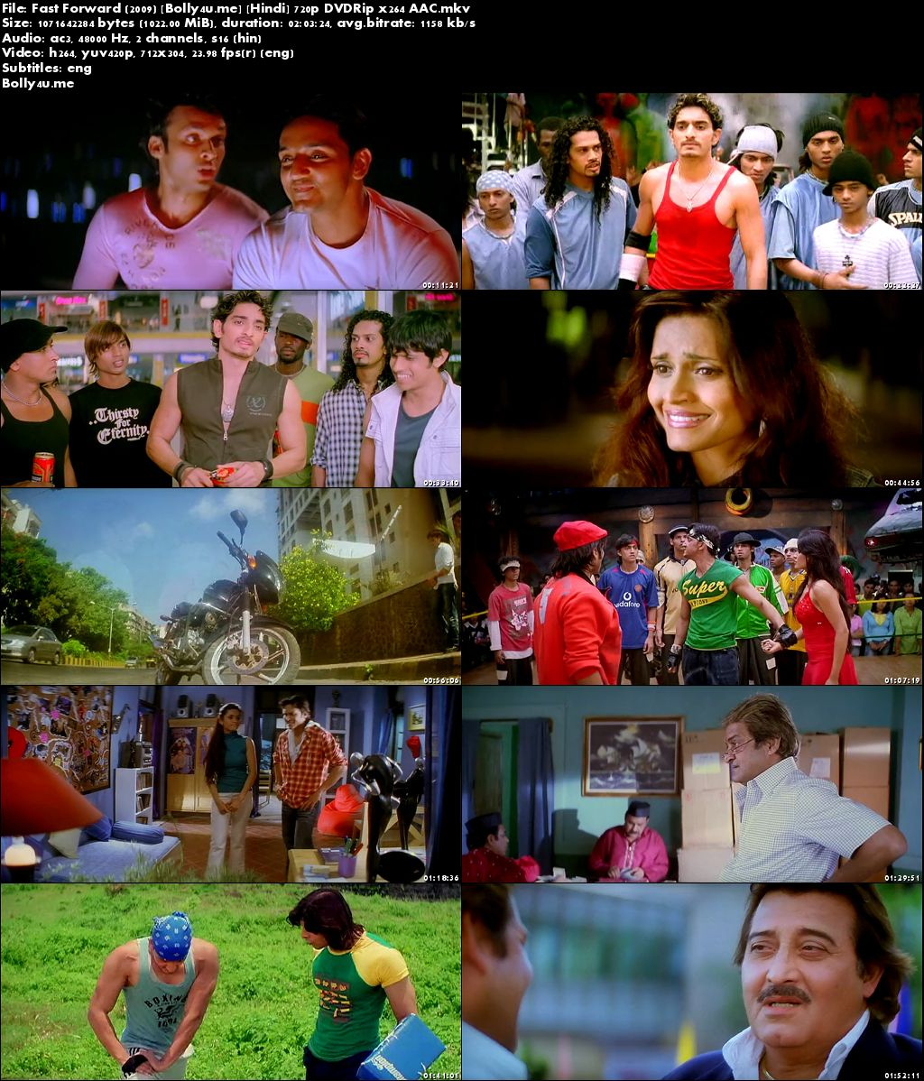 Fast Forward 2009 DVDRip 999MB Full Hindi Movie Download 720p