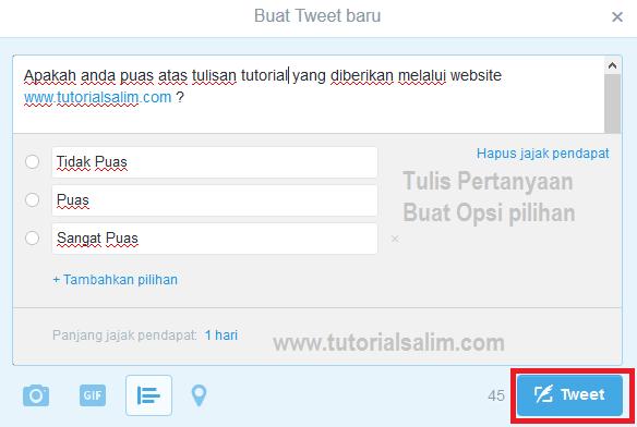 Cara membuat poling menggunakan twitter
