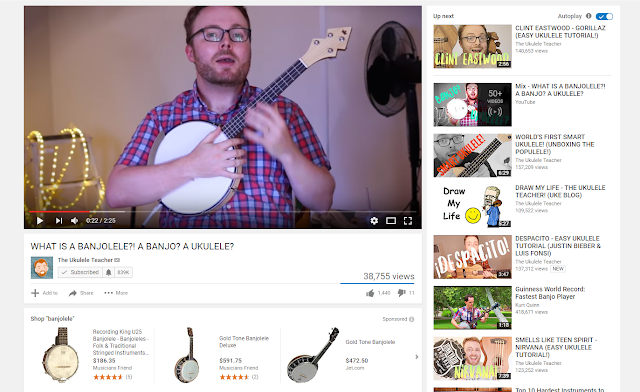 The Ukulele Teacher on YouTube Screenshot