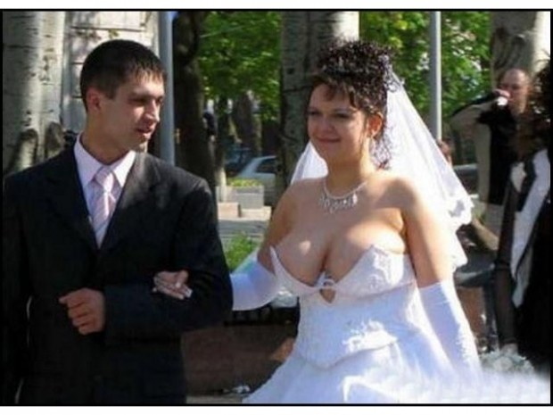 Wedding Women have big Softy Tits