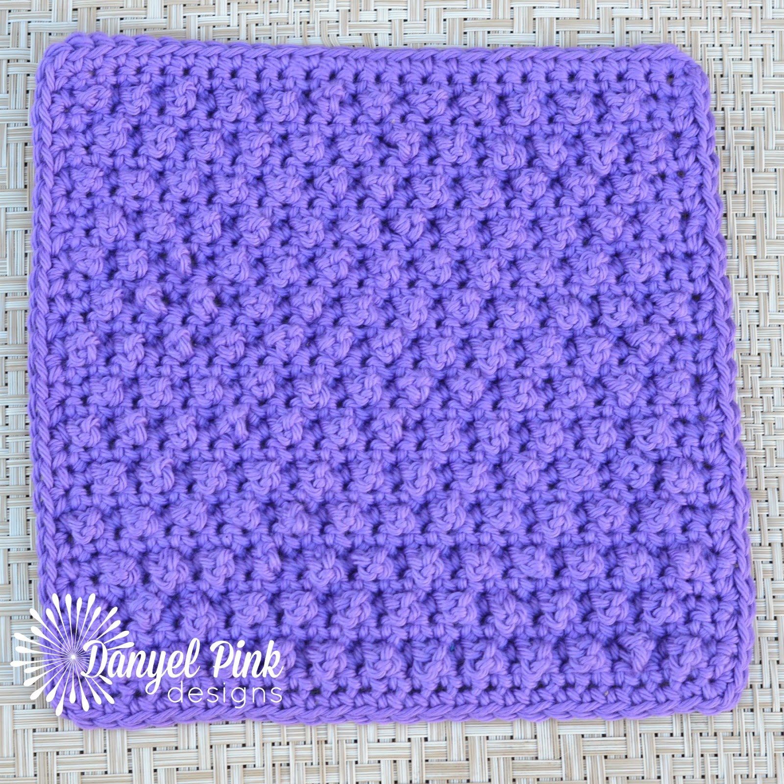 Danyel Pink Designs: CROCHET PATTERN - Blackberry Dishcloth
