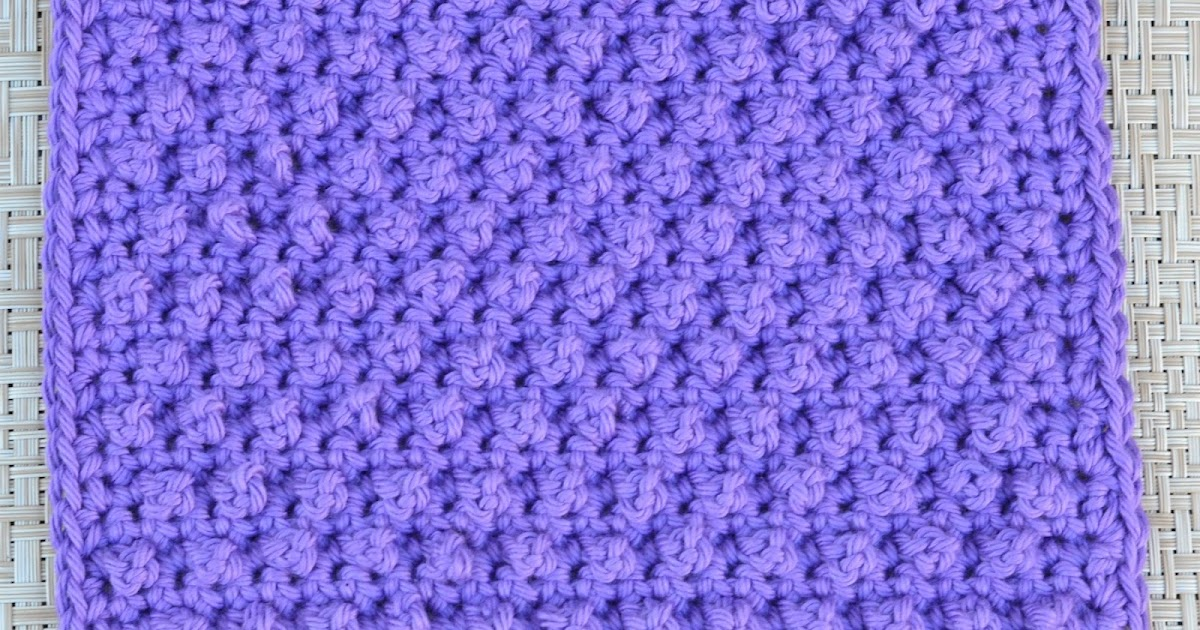 Danyel Pink Designs: CROCHET PATTERN - Blackberry Dishcloth