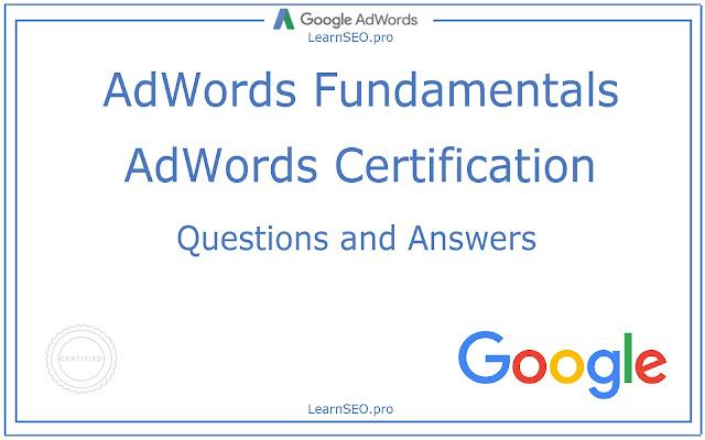 Adwords Fundamentals Certification