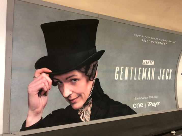 Gentleman Jack BBC London Underground poster
