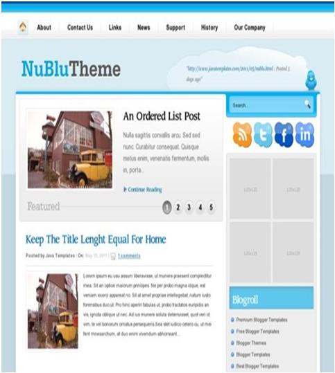 Nublu Blogger Template